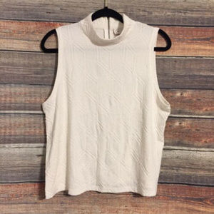 Anthropologie Postmark mock neck textured tank top